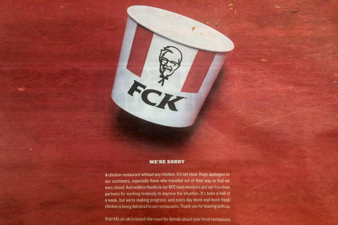How KFC turned their worst nightmare into a positive PR!